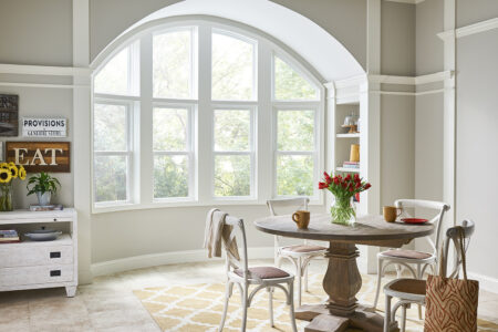 picture window in dining nook
