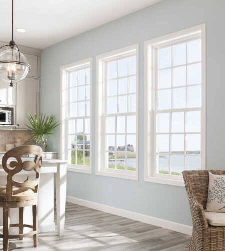 single hung windows in kitchen