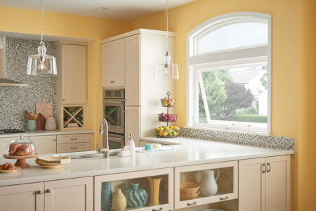 awning window in yellow kitchen