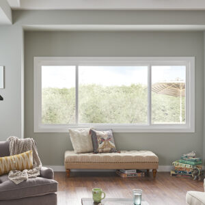 horizontal sliding window in family room