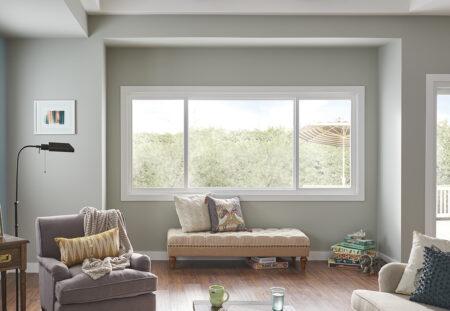horizontal sliding window in family room